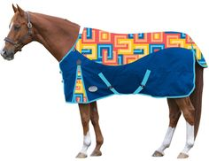 ~GROOVY~ Keep your horse warm with this Roma Psychedelic Turnout Blanket!