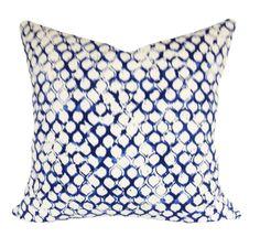 John Robshaw for Duralee Trellis Sata Lapis Pillow Cover - Decorative Pillow - 12 x 16, 12x20, 14x24, 18x18, 20x20, 22x22, 24x24