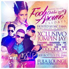 Fool Around Fridays @ Fula Lounge Saturday October 25, 2013