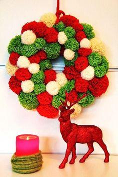 Ideas con pompones como parte de la decoración de la casa. ¡También en Navidad!