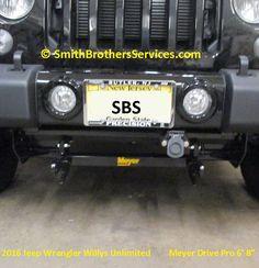 1 Piece Plug mounted on custom bracket. 2016 Jeep Wrangler, Snow Plow, Nice, Nice France