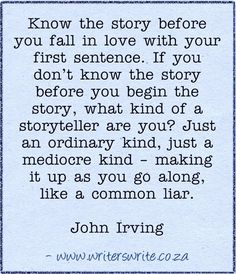 Quotable - John Irving - Writers Write Creative Blog