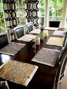Twitter / kmckerrow: Our new @re_loom placemats look amazing in the breakfast room