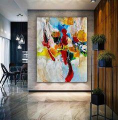 Large Office Wall Art Modern Abstract Art Abstract Painting image 8 Large Canvas Art, Abstract Canvas Art, Canvas Wall Art, Large Painting, Painting Canvas, Abstract Paintings, Contemporary Abstract Art, Office Wall Art, Office Decor