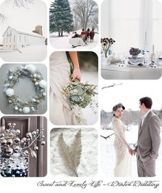 Sweet and Lovely Life: White Winter Wedding Inspiration | Sweet and Lovely Life