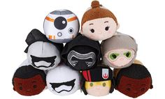 A few weeks ago, we saw a sneak peek of the new Star Wars: The Force Awakens Tsum Tsum Collection .  While the photo revealed four Tsum Tsums, there are more to the collection...a lot more.  Official photos of the new series was released this morning revealing 9 different Mini Tsum Tsums, 3 mediums
