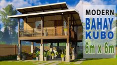 Modern Wooden House, Wooden House Design, Bamboo House Design, Minimal House Design, Tiny House Exterior, Modern Exterior House Designs, Small House Interior Design, Bahay Kubo Design Philippines, Philippines House Design