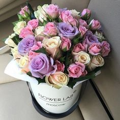 Find images and videos about beautiful, pink and flowers on We Heart It - the app to get lost in what you love. Luxury Flowers, Pretty Flowers, Beautiful Flower Arrangements, Floral Arrangements, Bouquet Box, Box Roses, Flower Boxes, Floral Bouquets, Rose Buds