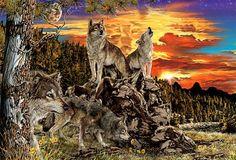 17 Hidden Wolves Optical Illusion - http://www.moillusions.com/17-hidden-wolves-optical-illusion/