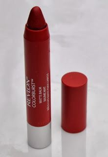 On My Vanity: Revlon Colorburst Matte Balm in Standout SUPER LONG LAST! Best red lip stain ive ever bought.