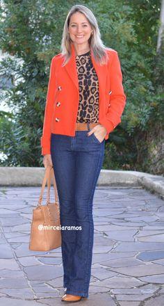 Look de trabalho - look do dia - look corporativo - moda no trabalho - work outfit - office outfit - spring outfit - look executiva - fall outfit - casual friday - casaco laranja - orange - bota caramelo
