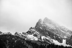 Black and White Snowy Mountain Art Print by artpics Scenic Photography, Image Photography, Landscape Photography, Mountain Wallpaper Hd, Water Journal, Nature Sauvage, Black And White Wallpaper, Mountain Art, Winter Mountain