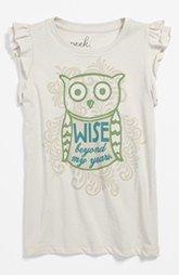 Peek 'Be Wise' Tee (Baby Girls)