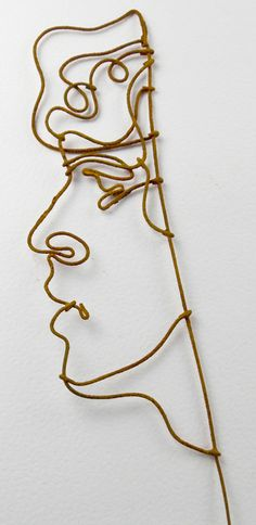 """Wire Portrait of young man for """"One Body"""" installation"""