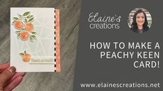 Learn how to make this cute card with Stampin' Up!'s Sweet as a Peach stamp set and Peach Dies in this video tutorial! Fun Fold Cards, Cute Cards, All Paper, Stampin Up, Card Making, The Creator, Peach, Paper Crafts, Learning