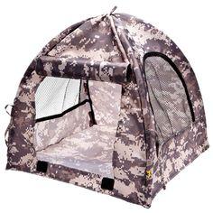I wanna live here with my bear!!! Digi pop-up tent!