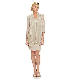 R and M Richards Crinkle Knit Jacket Dress #Dillards $110 Mom's Dress.