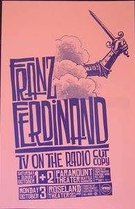 Franz Ferdinand Paramount 2005 11 x 17 $24