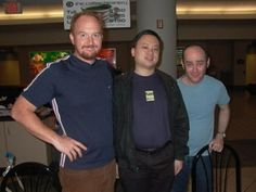 Todd Barry, William Hung, Louis CK (ordered descending according to stardom) Todd Barry, Funny Comedians, Louis Ck, People Laughing, Youth Culture, Big Star, Happy Endings, Celebs, Celebrities
