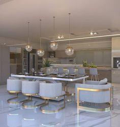 45 Adorable Kitchen Design Ideas Luxury Kitchens Adorable Design Ideas Kitchen in 2019 Kitchen Room Design, Luxury Kitchen Design, Luxury Kitchens, Home Decor Kitchen, Dining Room Design, Interior Design Kitchen, Kitchen Dinning, Luxury Interior Design, Luxury Dining Room