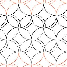 Easy Orange Peel quilting pantograph pattern by Patricia Ritter of Urban Elementz Quilting Stencils, Quilting Templates, Longarm Quilting, Free Motion Quilting, Quilting Tips, Quilting Tutorials, Machine Quilting Patterns, Quilt Patterns, Blanket Patterns