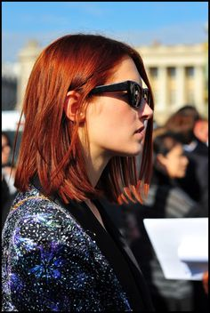 blunt lob...can't wait until my hair is long enough to make it all one length