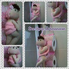 Dee Rosa Artesanatos, apresenta a porta-papel pequena! hehehe Toda charmosa, ela vem para deixar o banheiro mais cheio de charme! Va...
