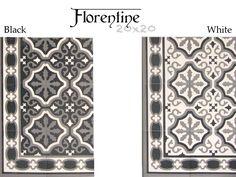 Nouveauté 2014 : La gamme de carrelage aspect carreau ciment 20x20 Florentine de Mainzu propose deux couleurs noir et blanc.