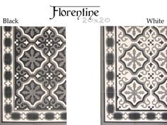 Carrelage 18x18 imitation carreau ciment europe mix - Carreaux de ciment noir et blanc ...