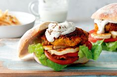 This Middle-Eastern inspired burger is a great vegetarian alternative to the meaty hamburger.