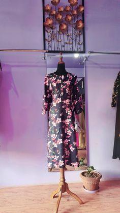 Magic Hands, Cherry Blossom, Kurti, Dresses With Sleeves, Prints, Fashion, Moda, Sleeve Dresses, Fashion Styles