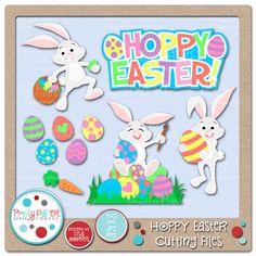 Hoppy Easter Cutting Files