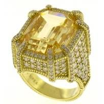 My Monaco Ring with Canary Crystal worn by Vanessa Williams.