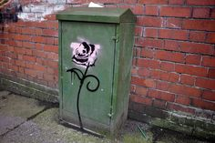 Urban graffiti rose