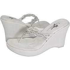 White Pearl Rhinestone Wedge Flip Flops Pearls The O Jays And Products
