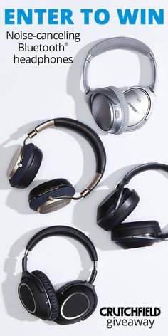 Win 1 of 12 Bluetooth Noise-Cancelling headphones from Crutchfield