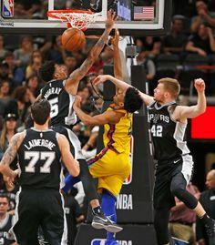 971c6a5ea14e San Antonio Spurs  Dejounte Murray (5) and Davis Bertans (42) combine