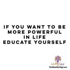 ✨Where is your power? Education goes a long way.✨