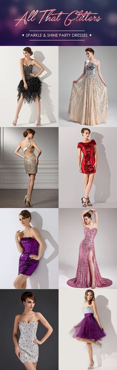 Prom? Party? Dinner? Graduation? We have the perfect dress for you! Sparkle & Shine in your dream outfit! All sizes, colors, styles available. Fast worldwide shipping. #partydress