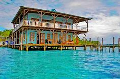 Unique Bocas Del Toro Rental sits directly on the water of the Caribbean Sea