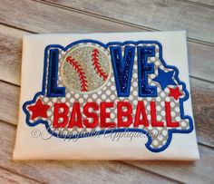 LOVE Baseball Machine Embroidery Design