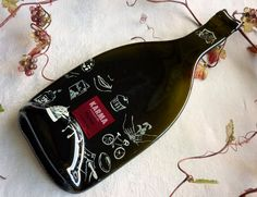Slumped wine bottle cheese plate from Karma Vineyards. $20.00, via Etsy.