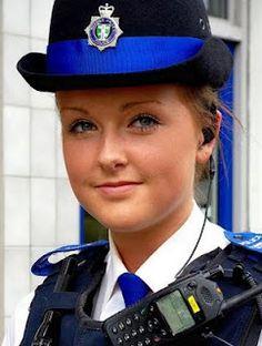 blonde policewoman