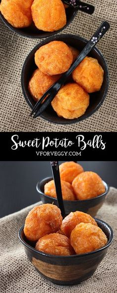 Sometimes traditional snacks can be very satisfying and delicious, like this sweet potato balls, or bola-bola ubi as we call it in Indonesian. Steamed Sweet Potato, Mashed Sweet Potatoes, Vegetarian Recipes, Cooking Recipes, Healthy Recipes, Lunch Recipes, Menu Vegan, Paleo Vegan, Fingers Food