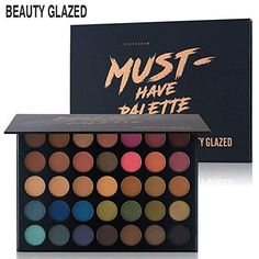Beauty Glazed 14 Color Eyeshadow Palette Makeup Shimmer Matte Pigmented Smokey Eye Shadow Pallete Long-lasting Natural Cosmetics To Make One Feel At Ease And Energetic Beauty & Health