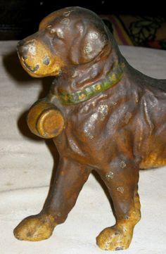 images of antique doorstops | Antique Saint Bernard Cast Iron Dog Art Statue Sculpture Home Garden ...