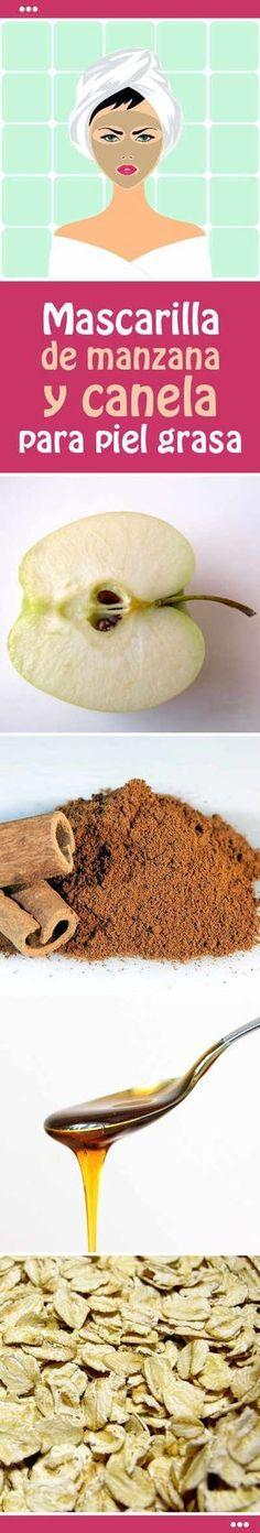 Mascarilla de manzana y canela para piel grasa #mascarilla #piel #cara #casera #rostro