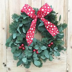 A POP of red for your door  I can't wait to make my wreath for home this weekend.... decisions decisions.... what style to do. #tfsdoor #theflowershopossett #loveossett @loveossett