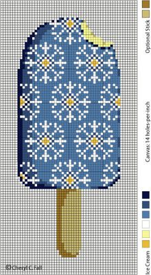 Ice Cream on a Stick Pattern Series - January