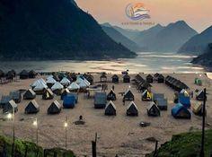Kolluru bamboo huts night stay at godavari river bank